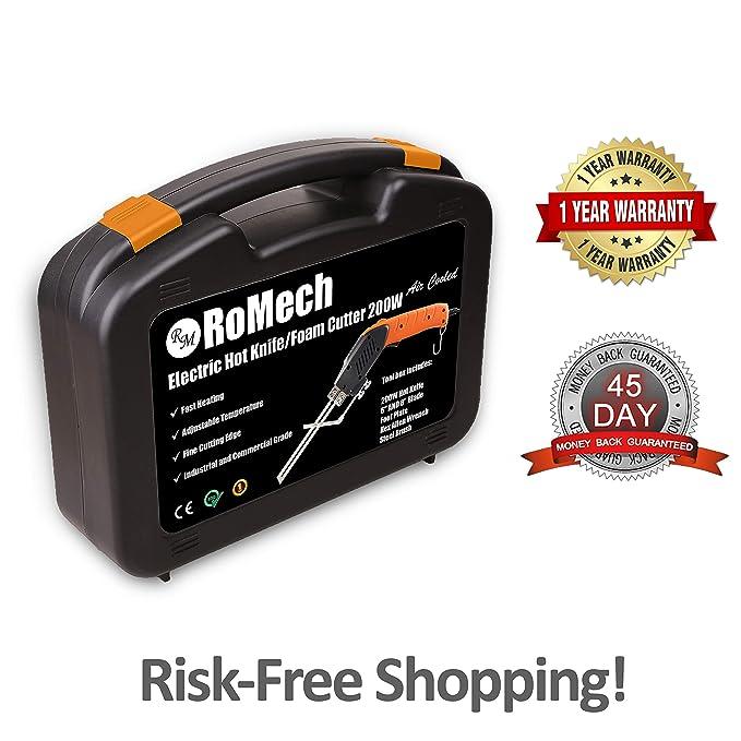 Amazon.com: RoMech Cortador de espuma – Cuchillo eléctrico ...