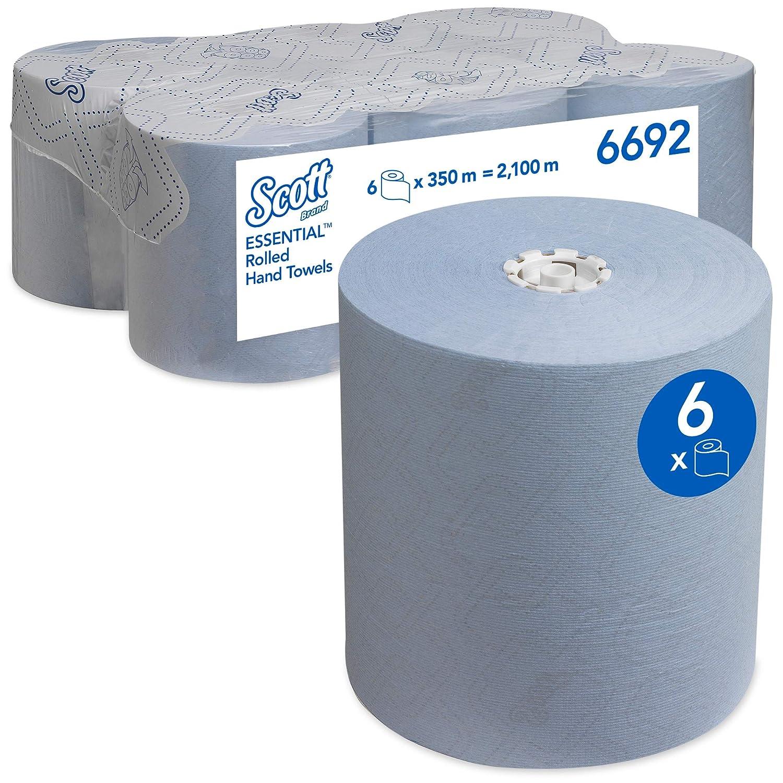 insges. 2.100/m blaue Papiert/ücher Scott Essential Papierhandt/ücher gerollt 6692 6/x/350/m Handtuchrollen