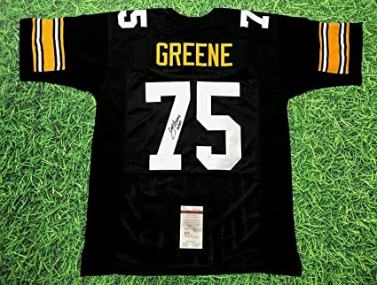 4c566811b54 Image Unavailable. Image not available for. Color  JOE GREENE AUTOGRAPHED  PITTSBURGH STEELERS JERSEY JSA ...