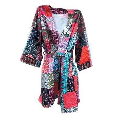 Amazon.com: Art Studio Company - Albornoz de sari reciclado ...