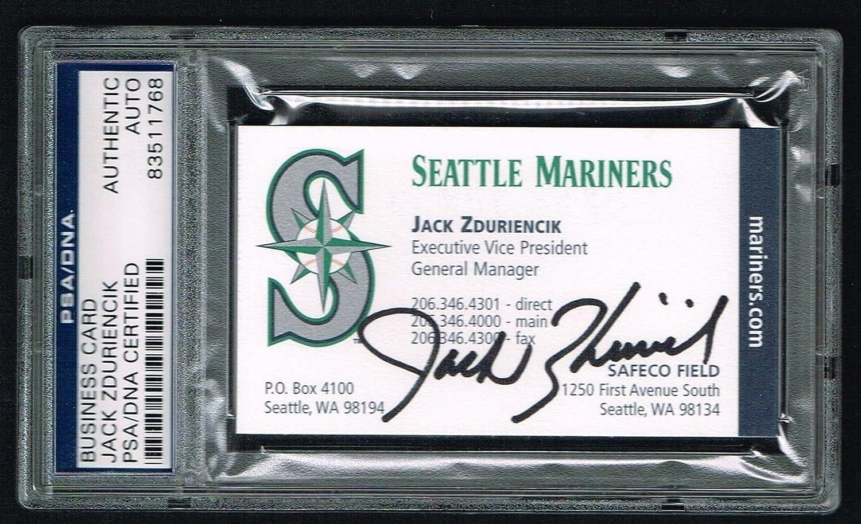 Jack Zduriencik Signed Autograph Auto Business Card Seattle Gm Psa