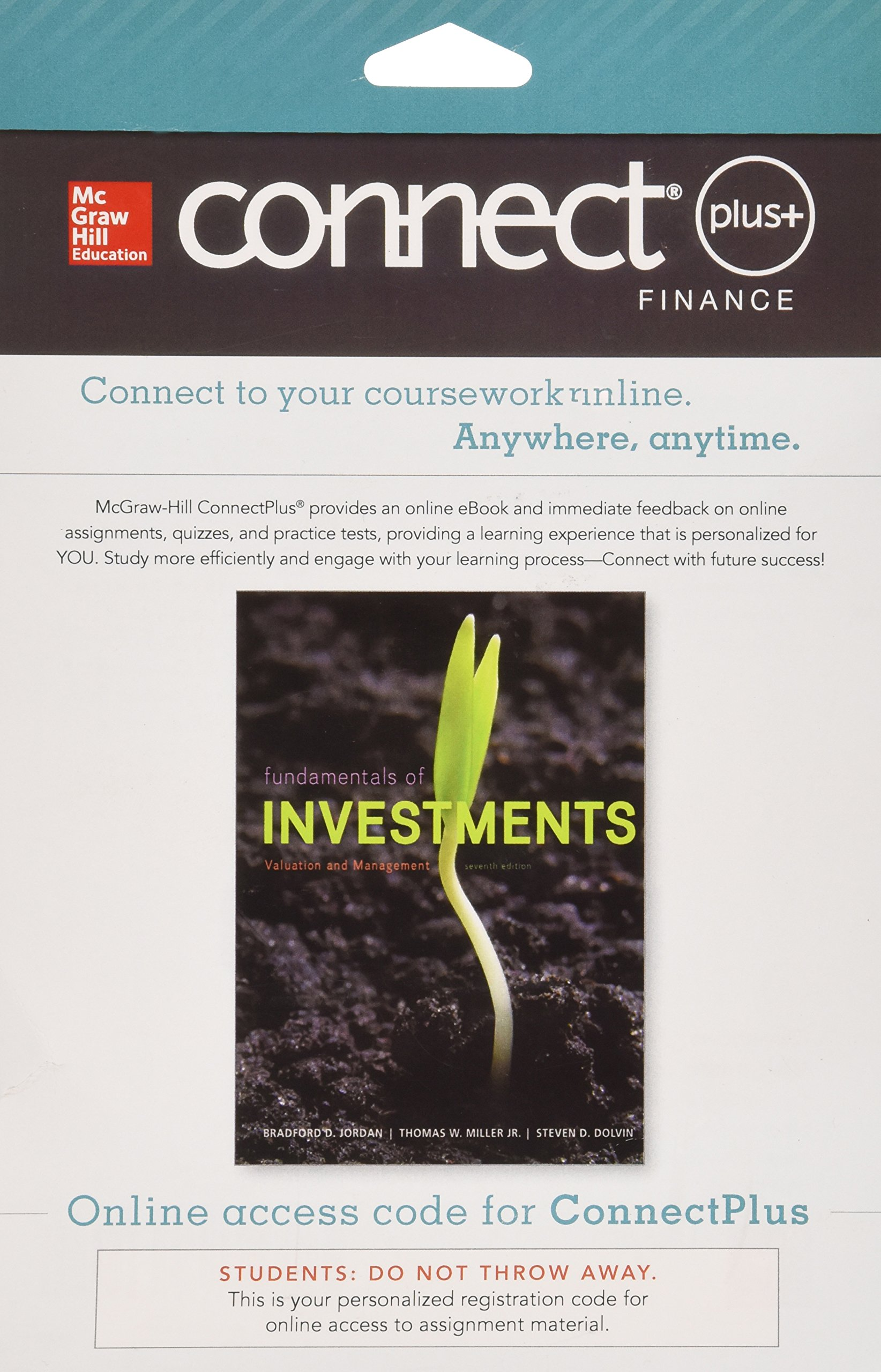 Connect 1 semester access card for fundamentals of investments connect 1 semester access card for fundamentals of investments 9780077641757 amazon books fandeluxe Images
