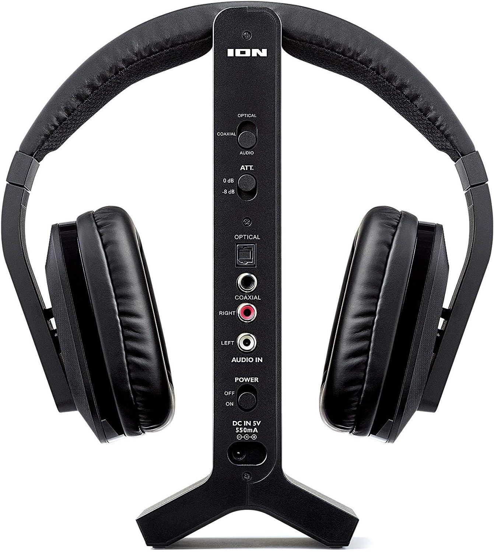ION Audio Telesounds Sistema de Auriculares inalámbricos para TV con Entrada óptica: Amazon.es: Electrónica