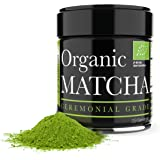 Ceremonial Matcha - Organic Matcha Green Tea Powder - 1oz - Highest Quality Japanese Matcha - Perfect for Tea Ceremonies and Holistic Detox - Made from 100% Organic Tea Leaves - Boosts Vitality