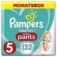 Pampers Baby-Dry Pants, Gr.5, 12-17kg, Monatsbox, 1er Pack (1 x 132 Stück)