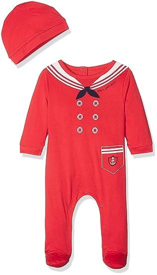 ENS, Pelele para Bebés, Rojo Rouge, 0