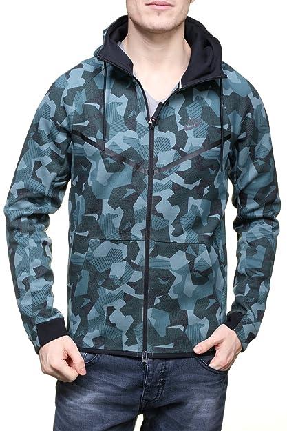 ec077a5fc72b Amazon.com  Nike Sportswear Tech Fleece Camo Mens Windrunner 835866 ...