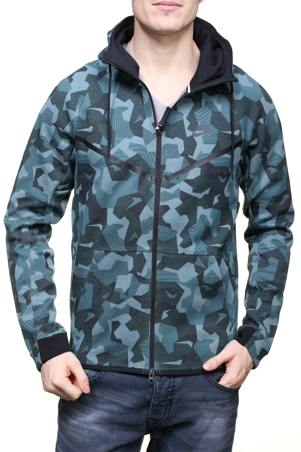 Nike Sportswear Tech Fleece Camo Mens Windrunner 835866 Jacket (Medium, Grey Camo 392) by NIKE