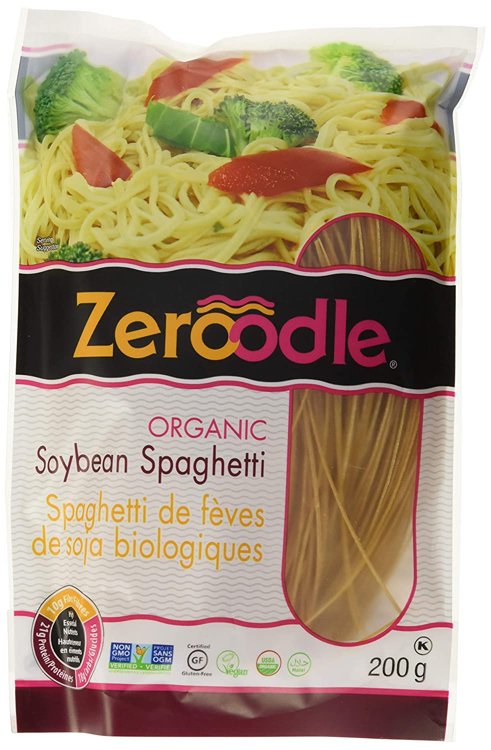 LIVIVA by Zeroodle Organic Soybean Spaghetti 7 oz (Pack of 6)