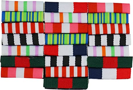 Pack of 4 Funny Combat Hero Military Rank Name Badges Costume Accessory