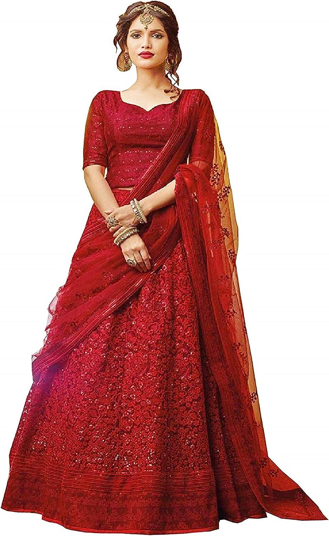 Women Attractive Georgette Lehenga Choli Embroidery Work With Georgette Dupatta Lehenga Choli For Women Traditional Wear