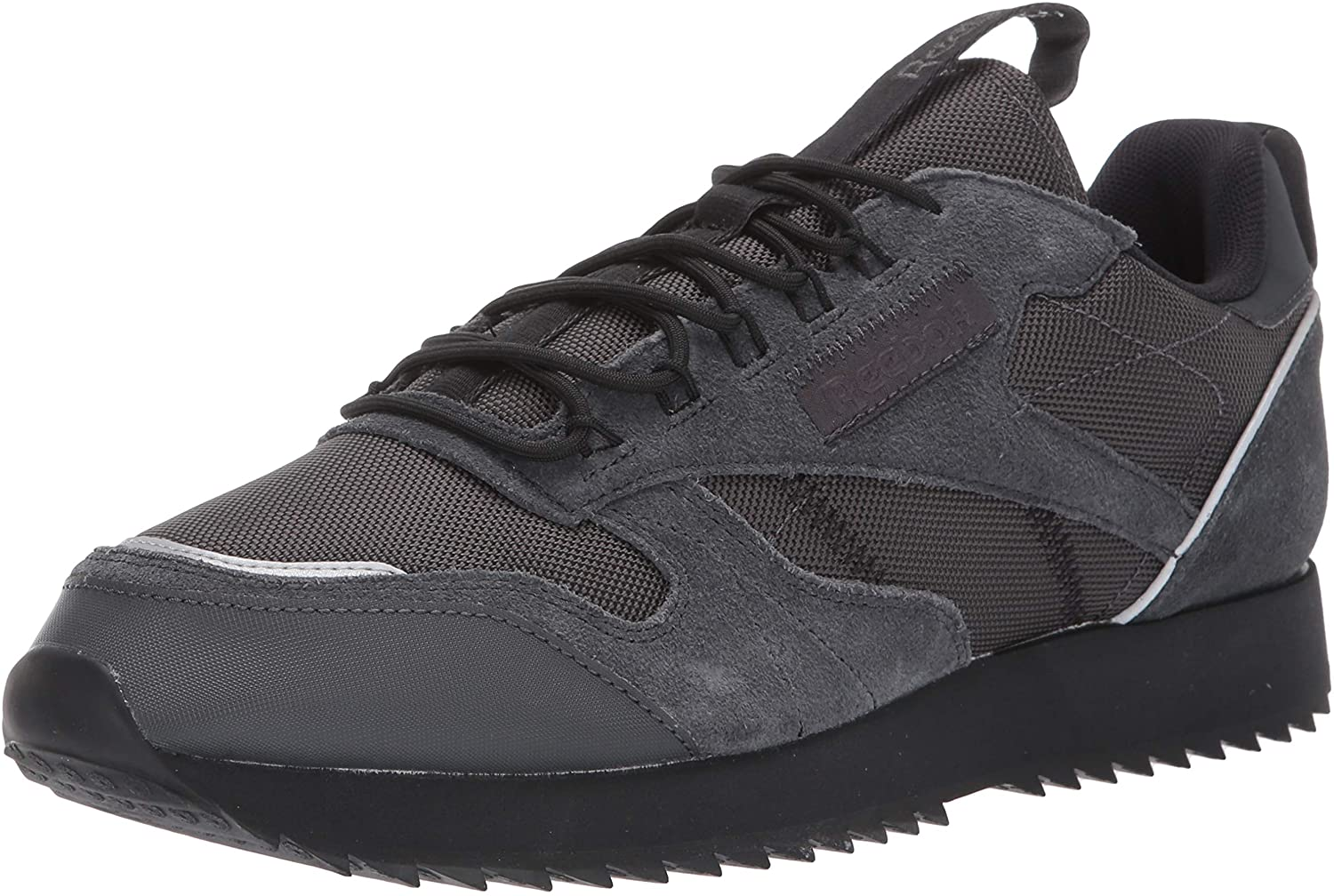 Reebok Men s Classic Leather Sneaker, Grey Black Panton, 7.5 M US