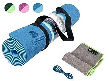 Eco Friendly antideslizante Yoga Mat, toalla de mano y 2 ...