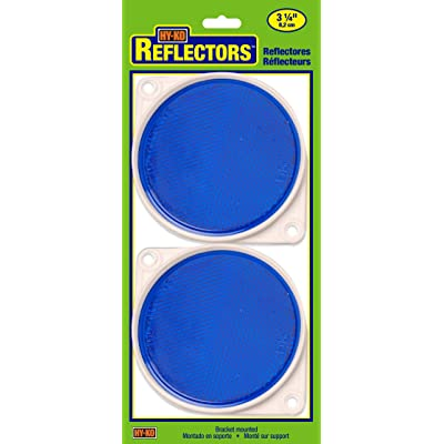 HY-KO Products CDRF-3B BRACKETED Nail-ON Reflector 2 PK, 3.25 in, Blue