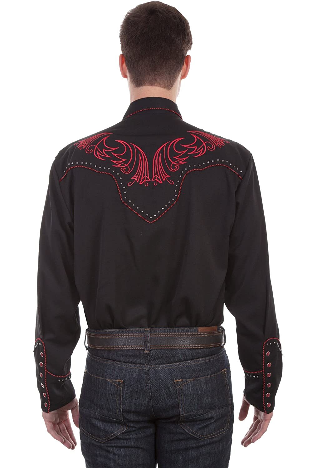 P-876 Scully Mens Embroidered Long Sleeve Western Shirt