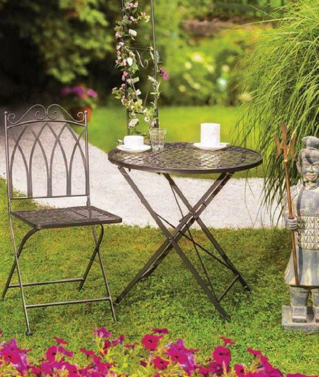 Dreams4Home Gartenmetall Tischset \'Vroni\' - Set, 1x Tisch, 1x Stuhl ...