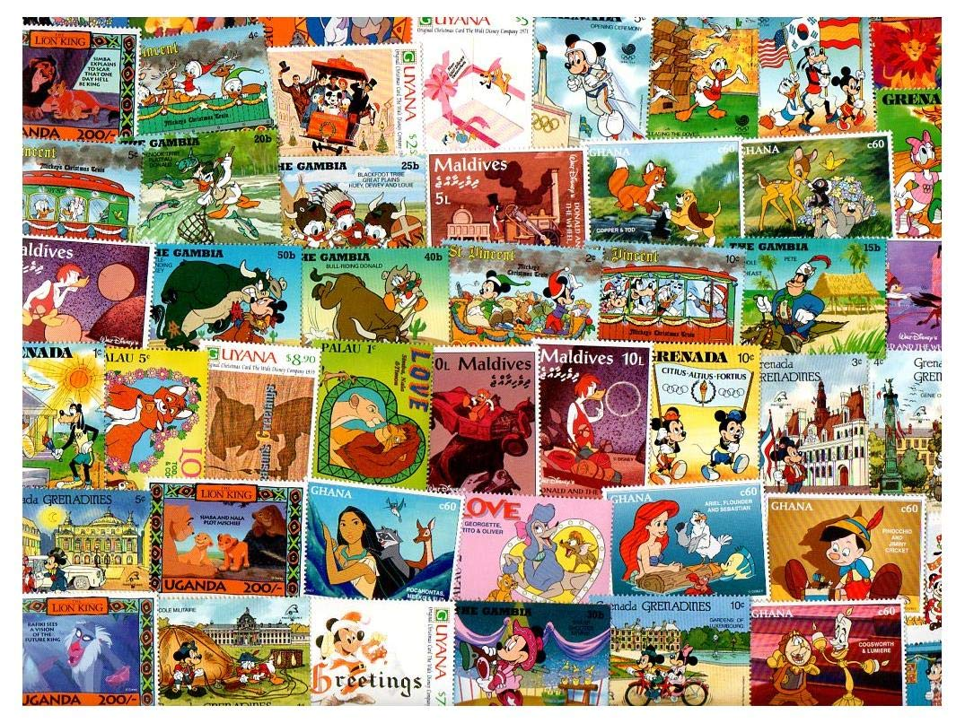 Walt Disney 25 Different Stamps Collection Mixture Packet Stamps For Collectors