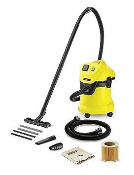 Kärcher WD 3 P - Aspirador en seco y húmedo, 1000 W, 220-240 V, 50/60 Hz, aspiradora de tambor, negro y amarillo: Amazon.es: Bricolaje y herramientas