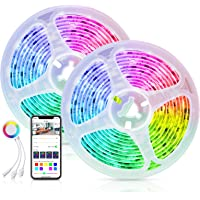 Alexa LED Strip Dreamcolor APP Controlled Smart Life, Maxcio 10M (2 * 5m) Smart 5050 RGB LED Strip met Sharing, DIY…