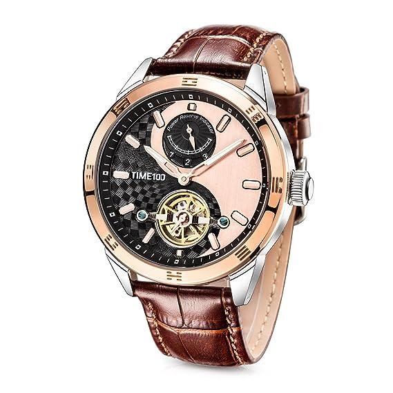 Time100 Reloj de Cuarzo en símbolo Tai Chi con Doble Esfera pequeña para Hombre W80151G (