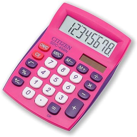 Citizen SDC 450 npkcfs calculadora de mesa pequeño formato Magenta ...