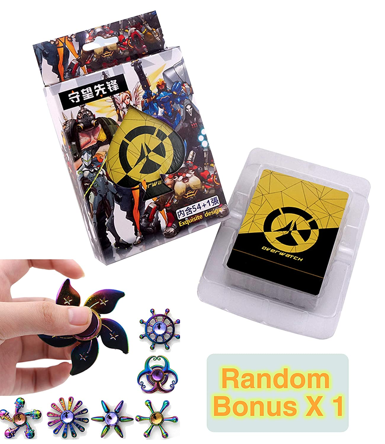 E-Hunter Deck of Game Anime Fans Poker Cards with Bonus Relaxation Pressure Relief Toy