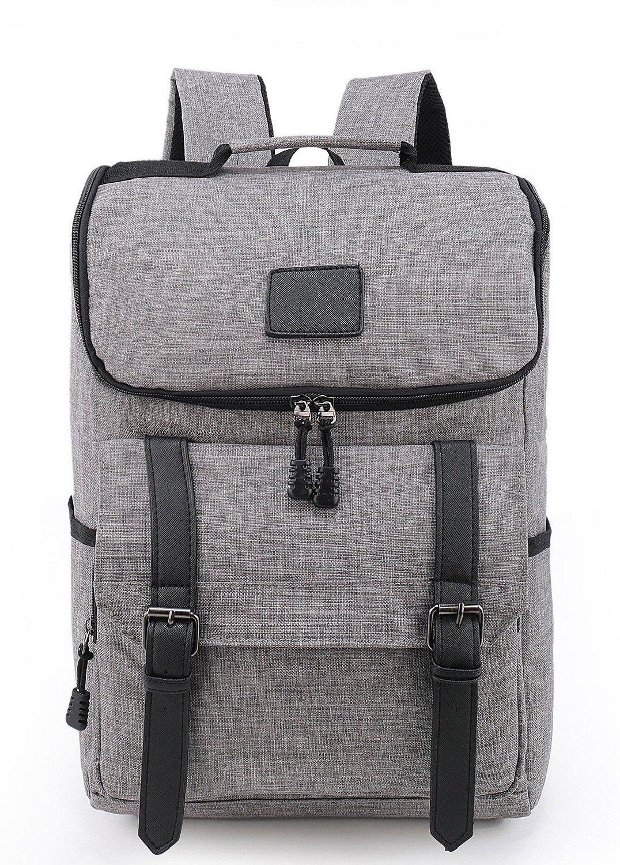 Weekend Shopper 15.6'' Laptop Backpack Vintage Backpack College backpacks Laptop Bookbag School Backpack Daypack Notebook Backpack for Women and Men GRAY