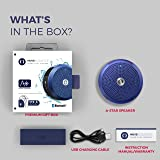 MuveAcoustics Portable Bluetooth Waterproof Speaker - Loudest Splashproof Stereo Sound for Men and Women, Blue