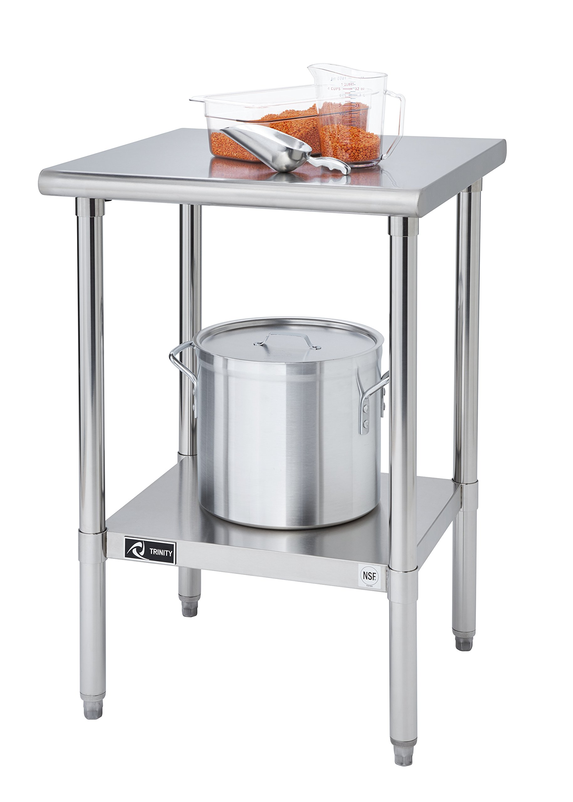 TRINITY EcoStorage NSF Stainless Steel Table, 24-Inch by Trinity (Image #5)