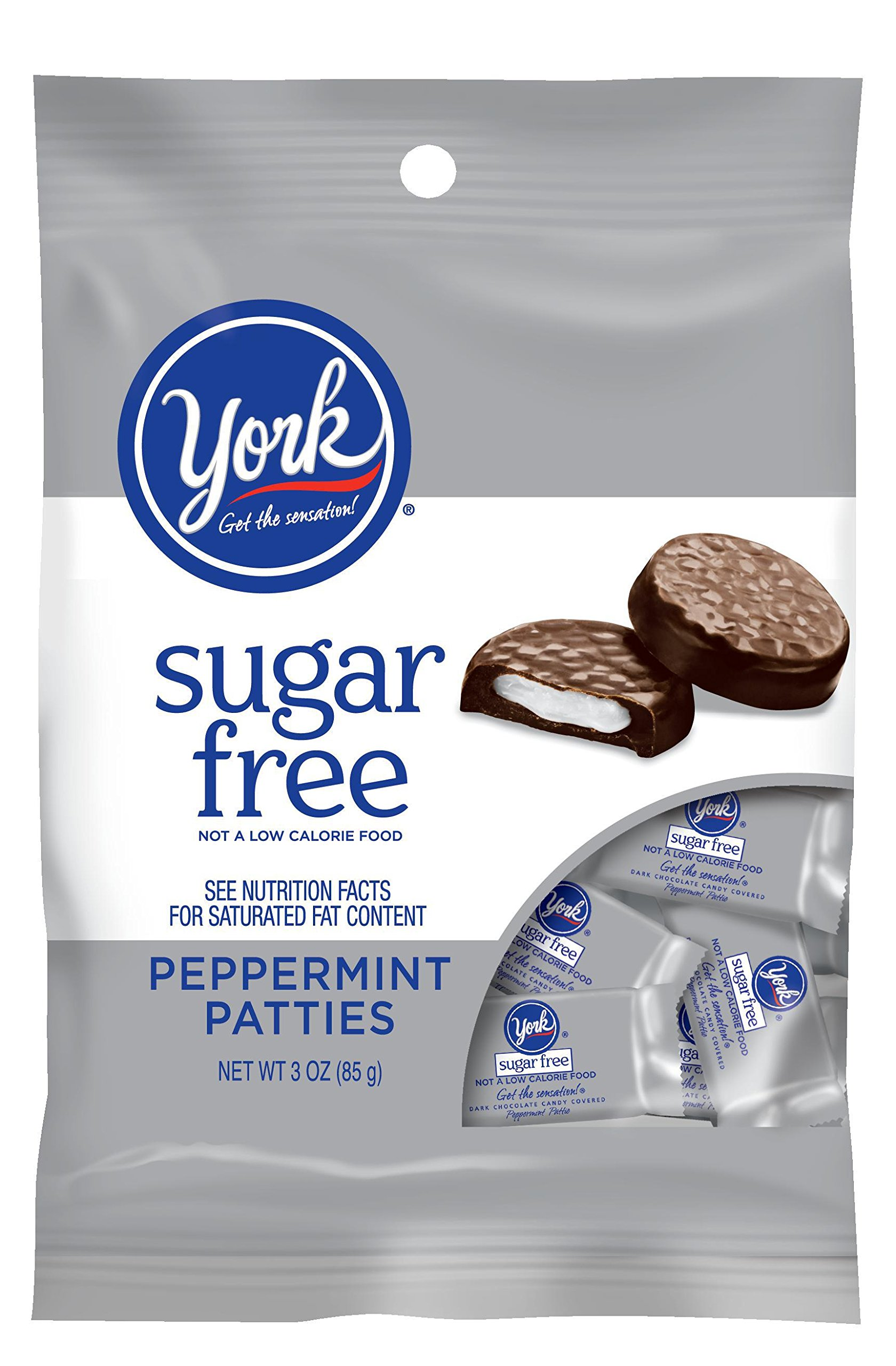 York Sugar Free Peppermint Pattie, 3-Ounce (Pack of 6)