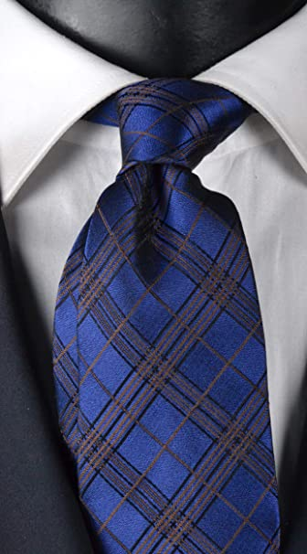 Graffeo Cravatte Corbata hombre siete pliegues a cuadros azul con ...