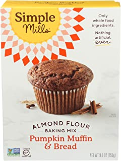 product image for Simple Mills Almond Flour Baking Mix, Gluten Free Pumpkin Bread Mix 9oz