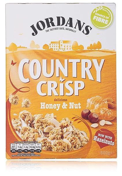 1162eb8b064b3 JORDANS Country Crisp - Granola Cereals - Delicious Honey & Nut, 500 g
