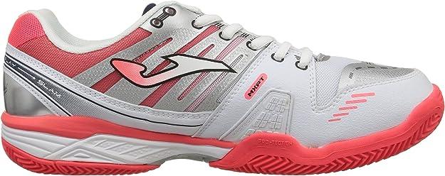 JOMA Slam Lady Zapatillas de Tenis, Mujer, Blanco/Coral 507, 38 ...