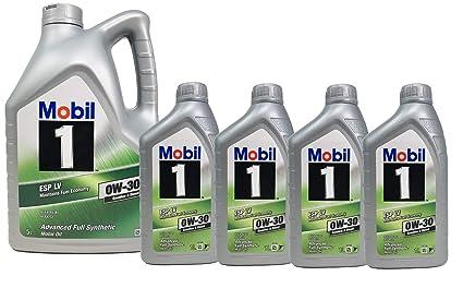Mobil 1 Aceite 100% Sintético Motor Gasolina Diesel ESP LV 0W-30 ...