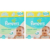 Pampers Natural Clean Wipes 14x Box lqilVr, 504 Wipes