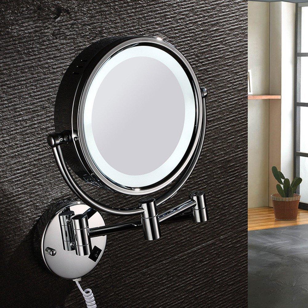 LIGHTledMirror/Continental telescopic folding double-sided beauty mirror/Mirror child/Bathroom mirror-A