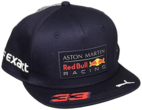 32a7ec16642 Image Unavailable. Image not available for. Color  Red Bull Formula 1 Racing  2018 Aston Martin Max Verstappen Flatbrim Team Hat