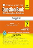 Oswaal CBSE CCE Question Bank With Complete Solutions For Class 7 (Combined Term 1 & 2) English