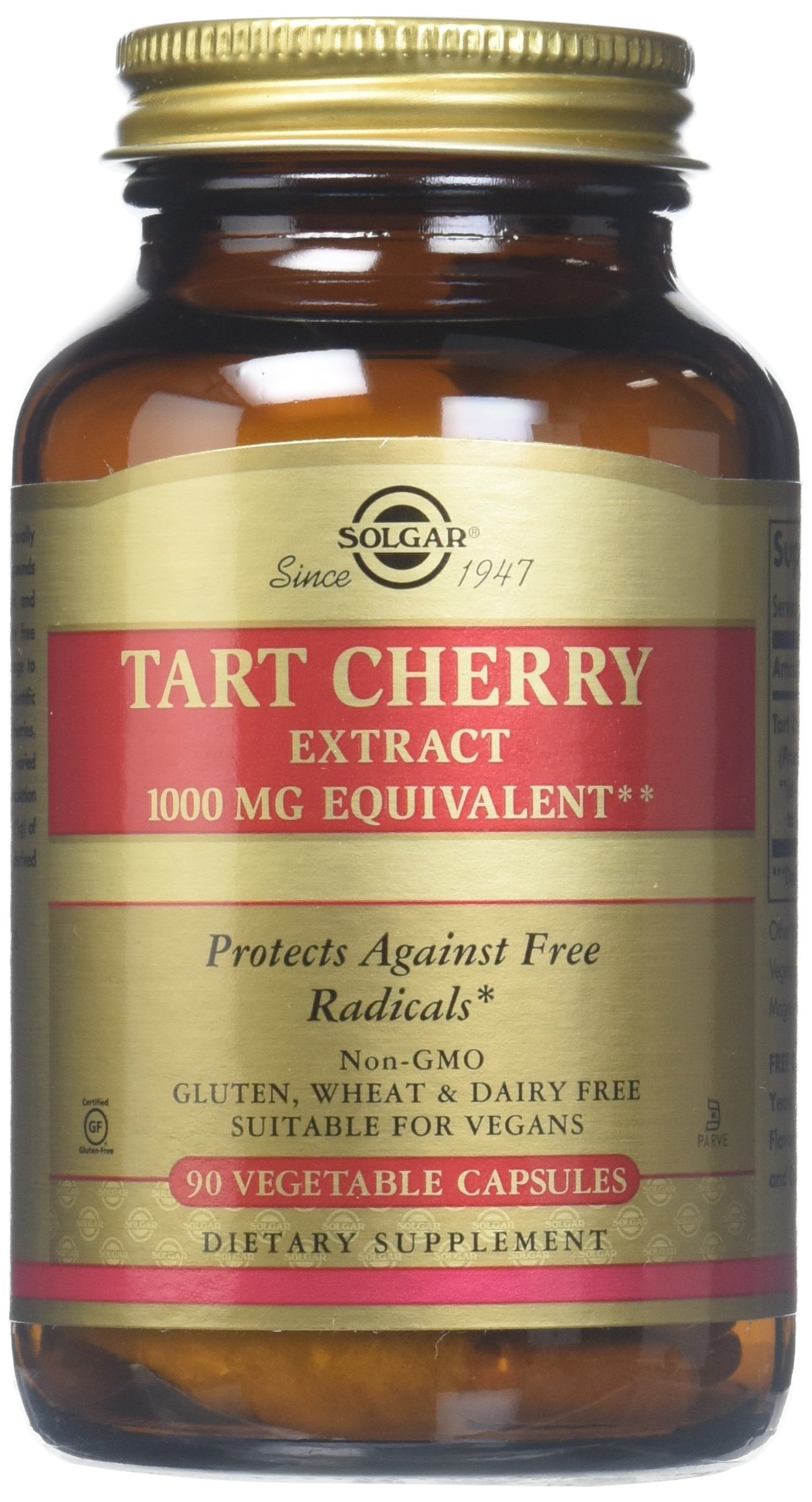 מתקדם Amazon.com: Solgar -Tart Cherry 1000 Mg, 90 Vegetable Capsules - 2 CR-75