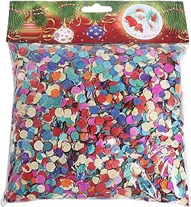 قصاصات ورقية للحفلات على شكل دائري، عبوة واحدة، متعددة الألوان، 100 جم