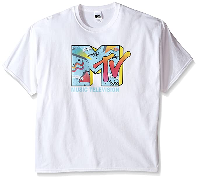 970fbf531 Amazon.com  MTV Men s Retro Logo T-Shirt  Clothing