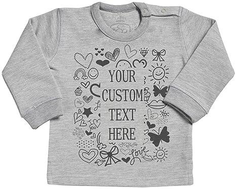Personalised Custom Text Baby T-Shirt SR