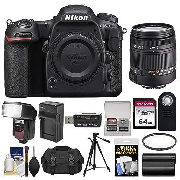 Nikon Cuerpo de la cámara D500 Wi Fi 4K réflex Digital con Lente ...