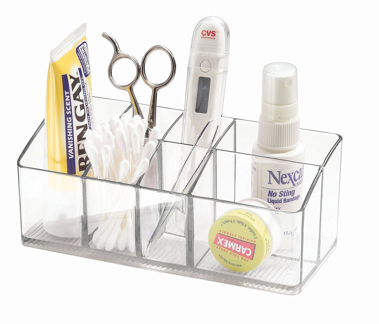 Amazon.com: InterDesign Linus Medicine Cabinet Organizer Clear, 7\