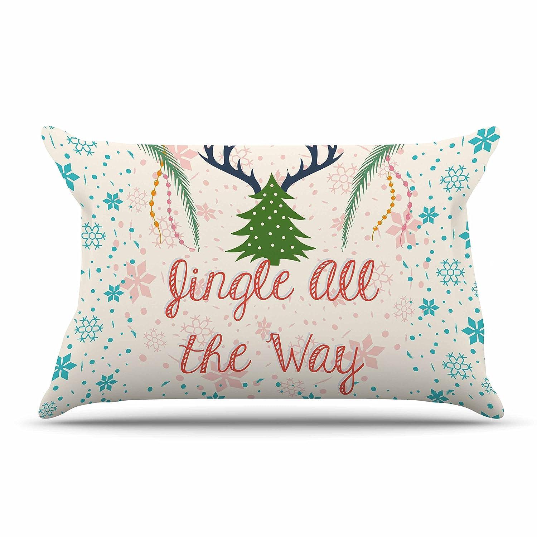 KessインハウスFamenxt「ジングルオールザウェイ」Holidayデジタル標準枕ケース、30 by 20インチ、30