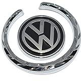 Incognito-7 3D Laxury Volkswagen VW Badge Volkswagen VW Logo Volkswagen VW Emblem Volkswagen VW Sticker Body Side Fender for All Volkswagen VW Cars - Metal (Black)