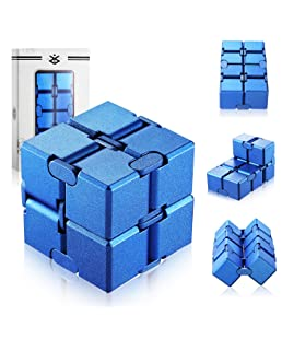 open up to love Infinity Cube Fidget Toy Hand Killing Time Prime Infinite Cube for ADD, ADHD, Anxiety, and Autism Adult and Children (Blue)