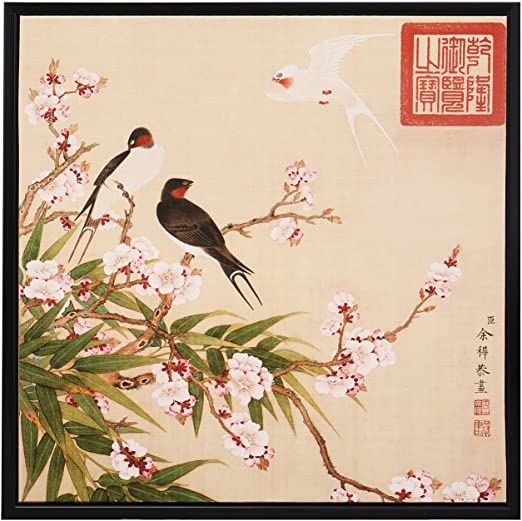 """Art painting Chinese flower and bird painting peony flowers painting12/""""x40/"""""""