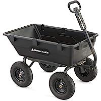 Gorilla Heavy-Duty Poly Yard Dump Cart (1200-Lb Capacity)
